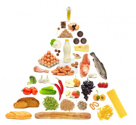 Photo for Food Pyramid - Royalty Free Image