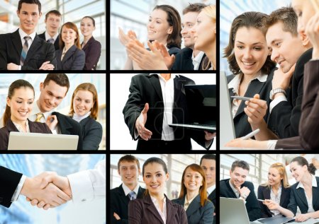 Photo for Working team of successful young business - Royalty Free Image