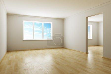 Foto de 3D rendering la habitación vacía - Imagen libre de derechos