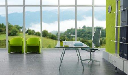 Foto de Oficina moderna representación 3d interior - Imagen libre de derechos