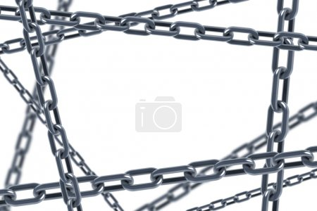 Photo for Isolated chain links 3d rendering - Royalty Free Image
