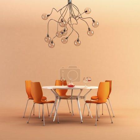 Photo pour Rendu 3d de la scène culinaire moderne - image libre de droit