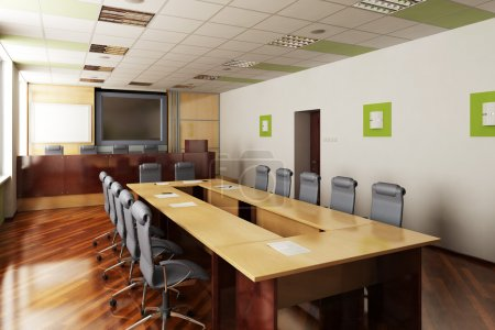 3D render of the conference hall