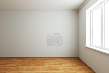 Photo for 3d rendering the empty room with window - Royalty Free Image