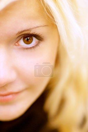 Foto de Cara de encantadora rubia closeup - Imagen libre de derechos