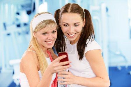 Two beautiful sportswomen