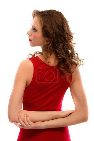 Portrait of darling girl back