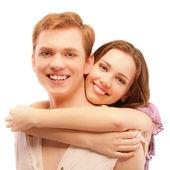 Portrait of beautiful loving couple