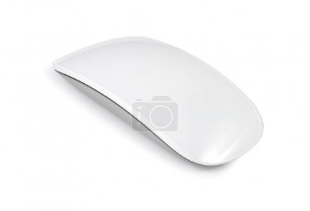 Photo for White computer mouse isolated with clipping path over white background - Royalty Free Image