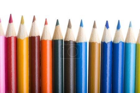 Photo pour Objet sur blanc - Couleur crayon gros plan - image libre de droit