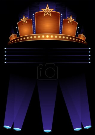 Photo for Background with design for grand opening in hollywood - Royalty Free Image