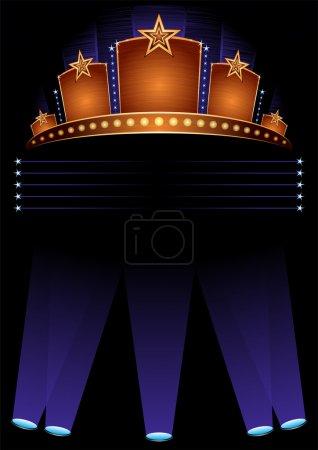 Photo pour Fond avec design pour l'ouverture officielle à hollywood - image libre de droit