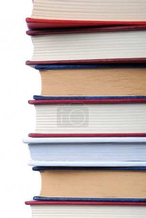 Photo for Isolated books with some empty space on the left - Royalty Free Image
