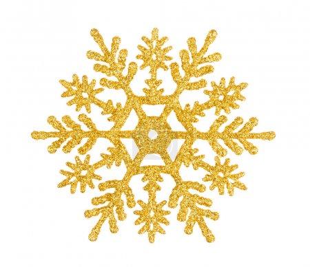 Photo pour Étoile de décoration d'arbre de Noël isolée sur fond blanc - image libre de droit
