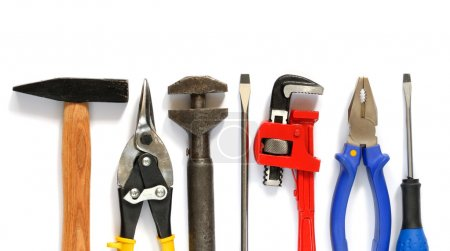 Photo for Tools set isolated on white background - Royalty Free Image