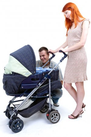 Parentswith baby stroller