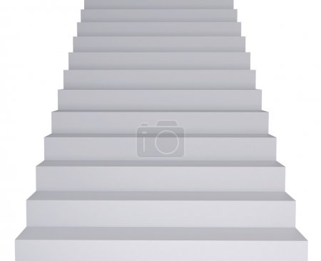 Photo for High resolution image. 3d render. White Ladder. Conceptual image. - Royalty Free Image