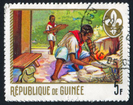 Stamp by Guinea