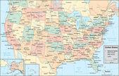 """Постер, картина, фотообои """"Соединенные Штаты Америки карта"""""""