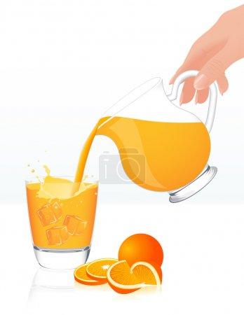 Orange juice jar