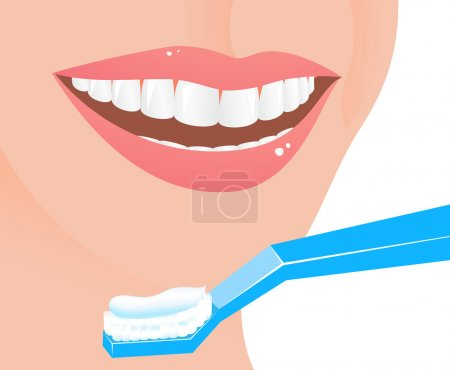 Illustration for Perfect smile, vector illustration - Royalty Free Image