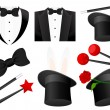Magician icons, vector illustration...
