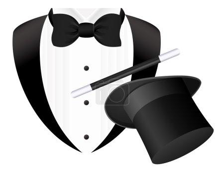 Magician, vector illustration,...
