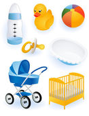 Baby accessories vector illustration EPS and AI files included