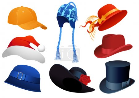Illustration for Hats, vector illustration, EPS and AI files included - Royalty Free Image