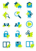 Icons with puzzle elements vector illustration EPS and AI files included