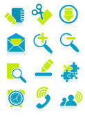 Office object icons vector illustration EPS and AI files included