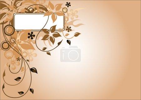 Brown flower frame