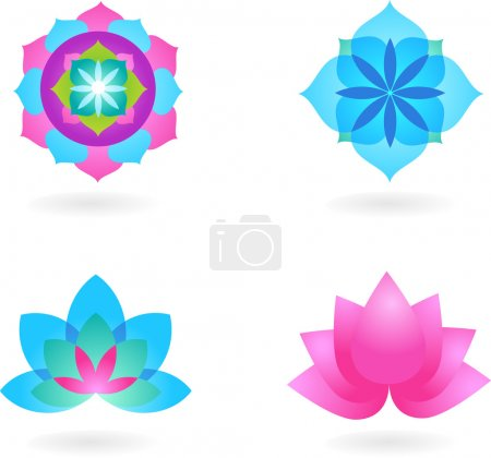 Photo for Four abstract yoga backgrounds - Royalty Free Image