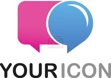 Illustration pour Icône de forme Callout - logo - image libre de droit