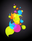 Colorful bubble background -1