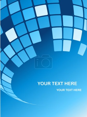 Illustration for Abstract blue mirror ball background - Royalty Free Image