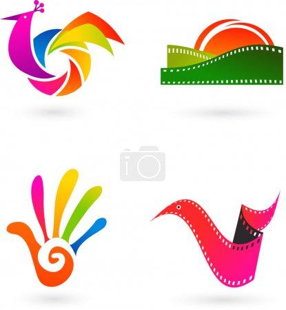 Art, cinema and photo icons