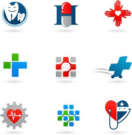 Photo pour Logos et icônes de médecine et santé - image libre de droit