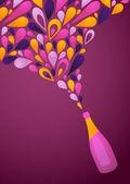 Funky purple wine background
