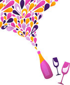 Funky clean white wine background