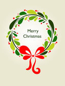 Christmas wreath card - 1