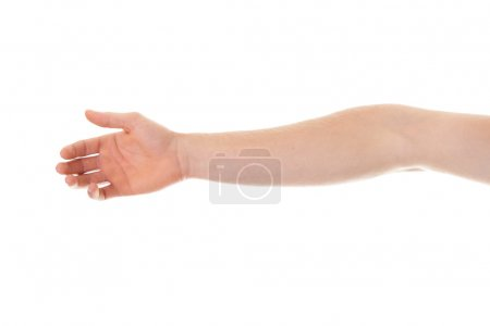 Photo for Broken elbow, isolated on white - Royalty Free Image