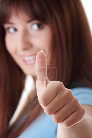 Photo for Close up portrait of a beautiful teen student woman. - Royalty Free Image