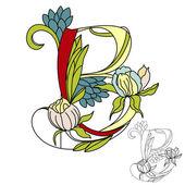Floral font2 Letter B