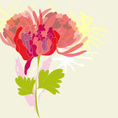 Background with pion flower