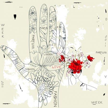 Illustration pour Illustration de style caniche - image libre de droit