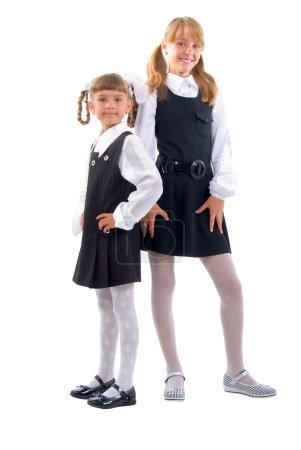 Schoolgirls In Uniform.