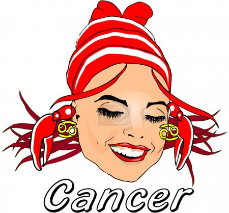 Woman Face Beauty Cancer Horoscope