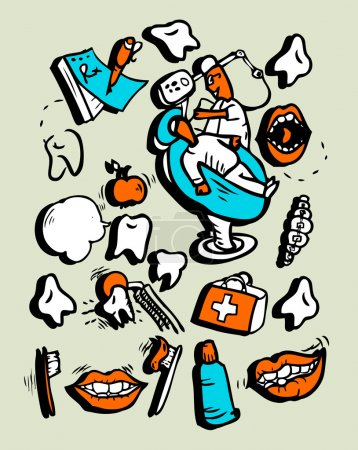 doodly style icon set Medicine Part 1