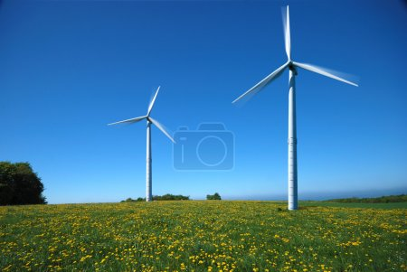 Two electricity windmills